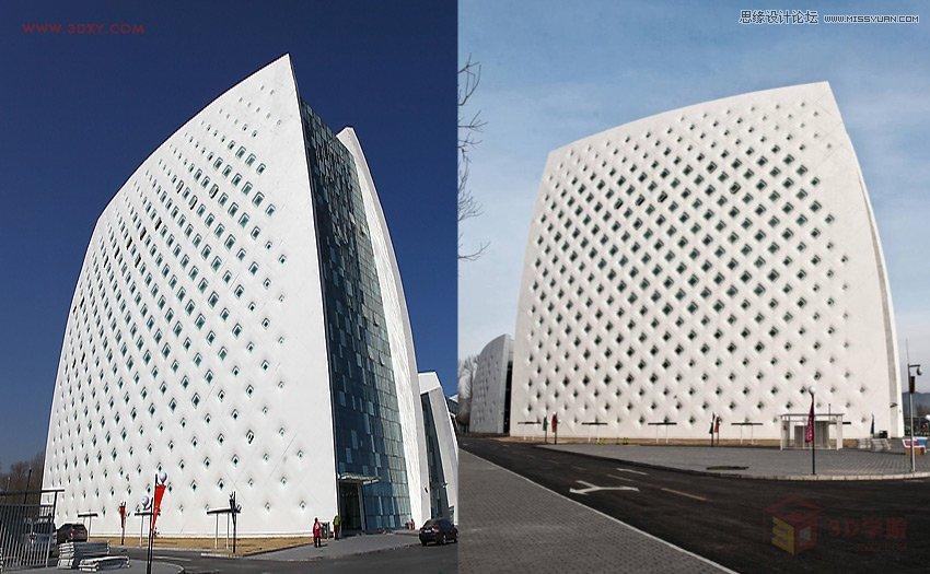 3dmax教程:制作异形建筑模型的外立面