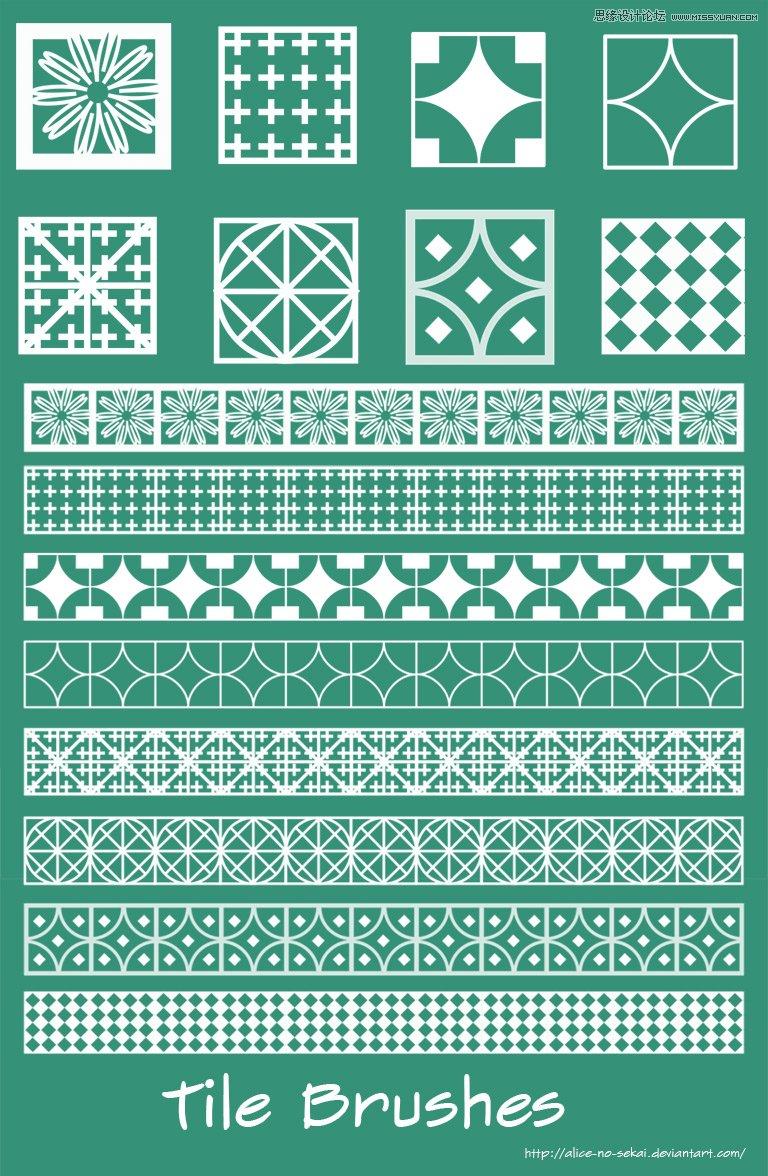 古典花纹图案边框效果ps笔刷