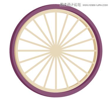 风格的自行车图标教程