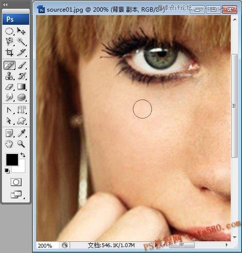 photoshop给满脸雀斑的人像美白和磨皮处理