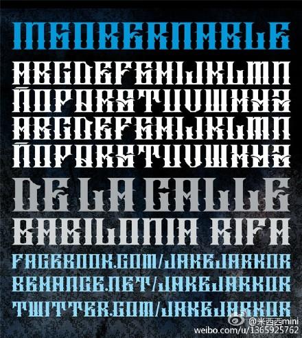外网1500套哥特类英文字体打包下载图片