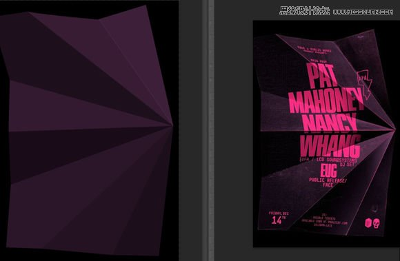 photoshop设计创意折纸风格字体海报教程