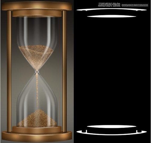 Photoshop繪製超逼真的金屬質感沙漏
