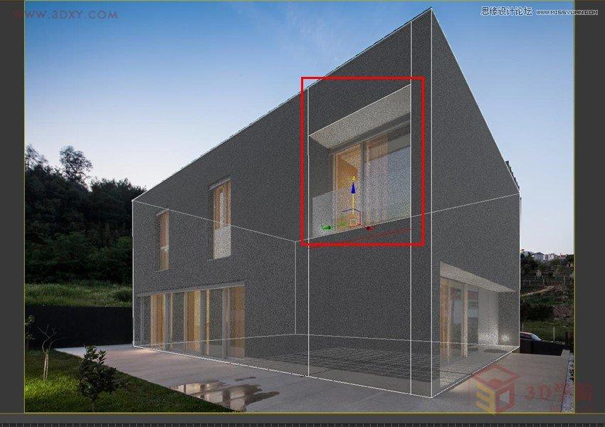 3dmax巧用透视匹配给吉别墅建筑物建模