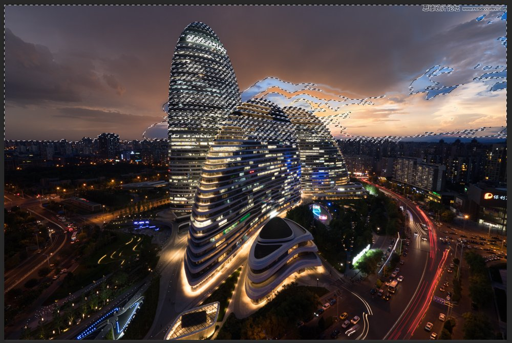 photoshop合成超酷的城市夜景效果图教程(2)