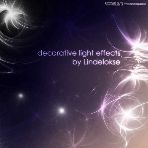 梦幻的残绕光线装饰ps笔刷 - photoshop笔刷免费下载 - 专业的素材