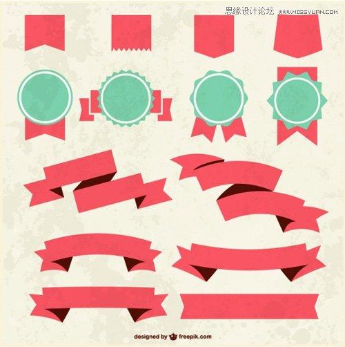 29套國外優質的絲帶矢量素材打包下載