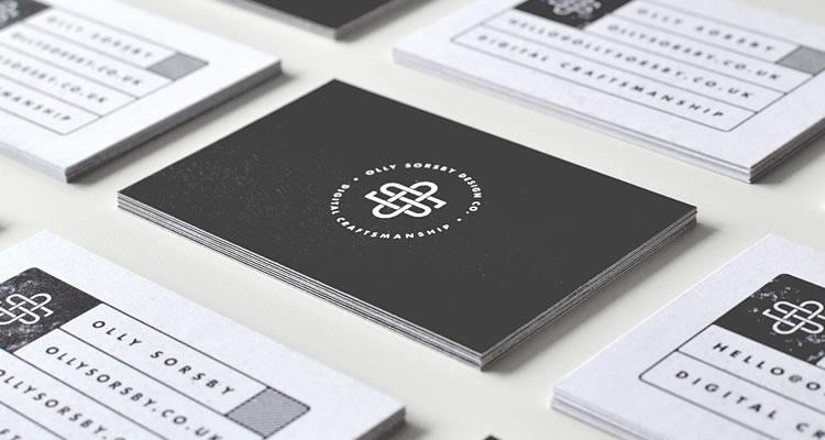 精選國外以字體設計為主的設計師名片欣賞