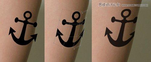 photoshop给人物添加帅气的纹身图案效果