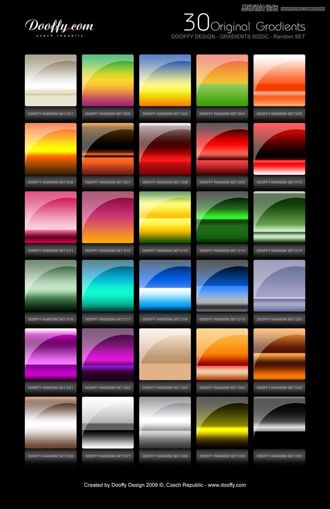 质感的金属和彩色效果PS渐变