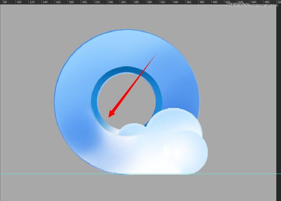 photoshop绘制蓝色立体风格的qq浏览器图标(4)