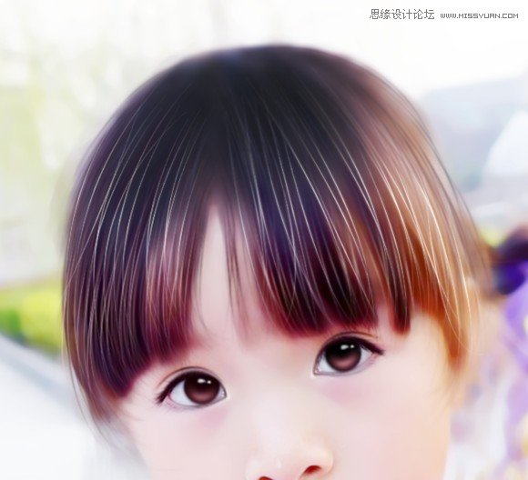photoshop给外景儿童照片转唯美的手绘效果,ps教程,思缘教程网