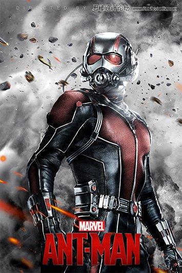 合成绚丽的英雄电影蚁人海报教程,电影海报制作过程是非常复杂的,首先