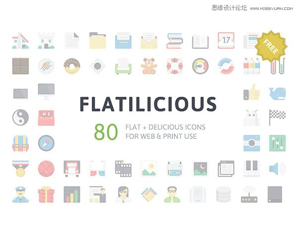 30套國外精品圖標素材免費打包下載