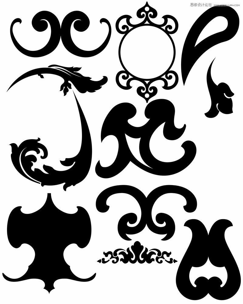 创意的欧式花纹图案ps笔刷