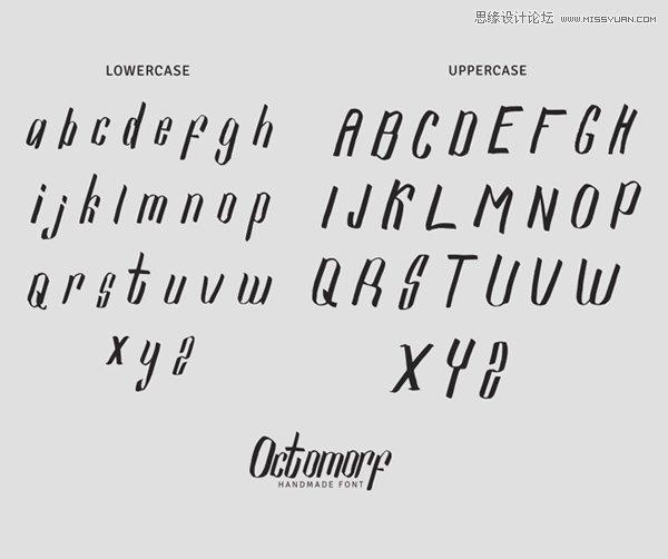 14組精挑細選的英文字體免費下載