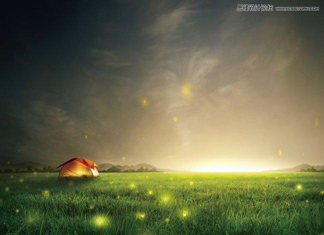 photoshop制作童话风格的全屏海报设计背景