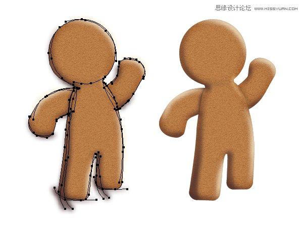 illustrator或者立体逼真的饼干小人教程