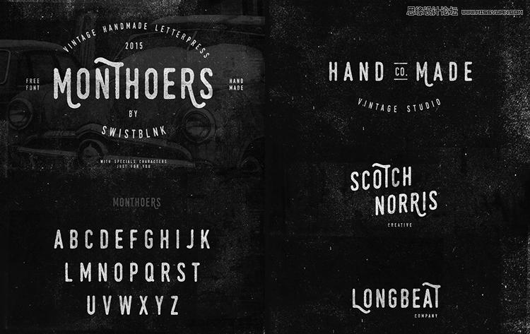 20款国外经典的手写英文字体打包下载