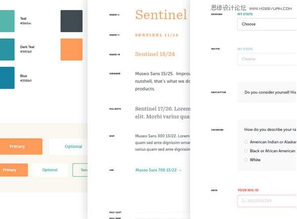 21款非常大气的网站ui设计风格指南