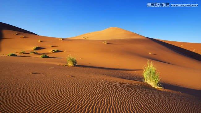2,用魔棒去掉素材b的天空,只留下沙漠.
