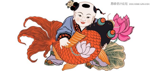 """传统年画如何与现代的年货节品牌相结合,脱俗出新,玩出新花样?今年阿里的设计师实实在在地秀了一手漂亮的绘画功夫,不仅活灵活现,而且丝毫没有违和感,附上3个设计小原则,一起来学习吧。 年画是中国画的一种,始于古代的「门神画」,蔡邕《独断》中说:""""神茶、郁垒而身居其门,主阅领诸鬼,其恶害之鬼,执以苇索,食虎。故十二月岁竟,常以先腊之夜逐除之也。乃画茶、垒并悬苇索于门户,以御凶也。"""" 小时候的年画是这个样子的:   如此富有中国传统气息且具文化内涵的艺术表现形式我们怎能错过呢?"""