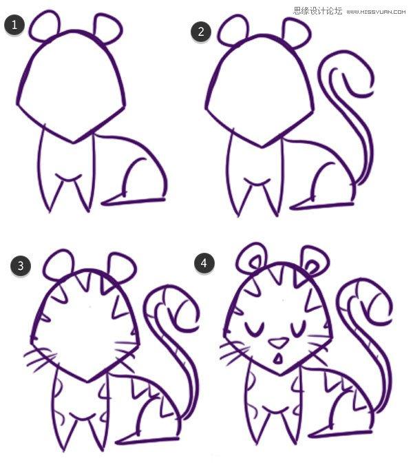 illustrator绘制中国传统十二生肖图案教程
