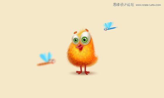 Photoshop繪製毛茸茸的可愛小黃雞