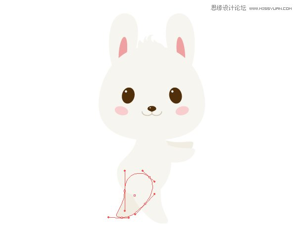 illustrator绘制卡通手绘风格的可爱兔子