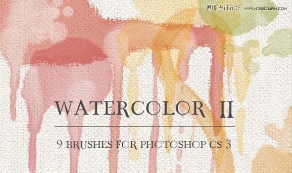 24套大氣實用的水彩和墨跡筆刷免費下載