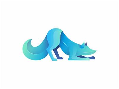 30款国外重叠渐变效果动物logo设计欣赏
