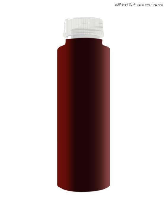 Photoshop繪製立體風格的飲料瓶造型