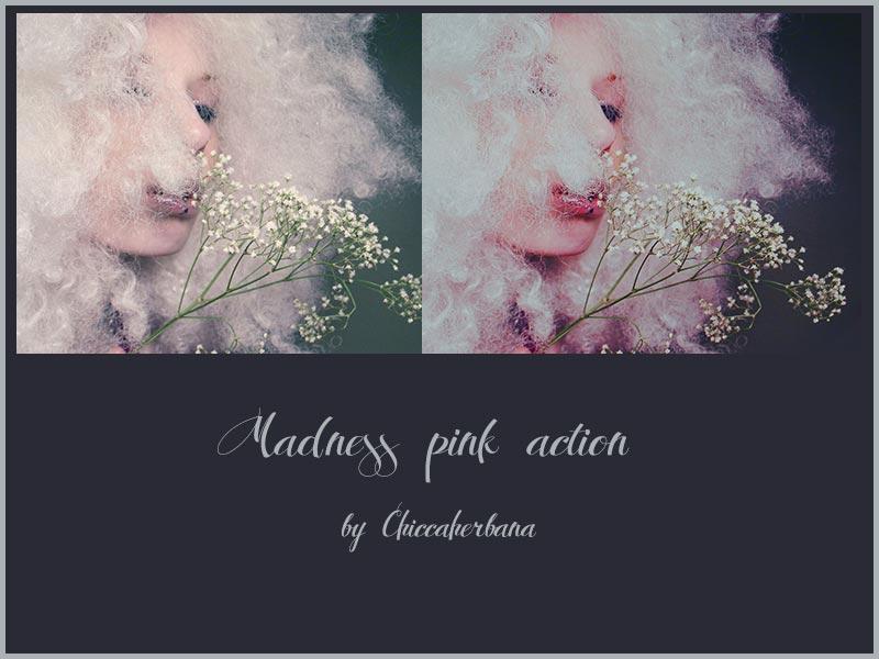 人像照片暗色粉红色效果PS动作
