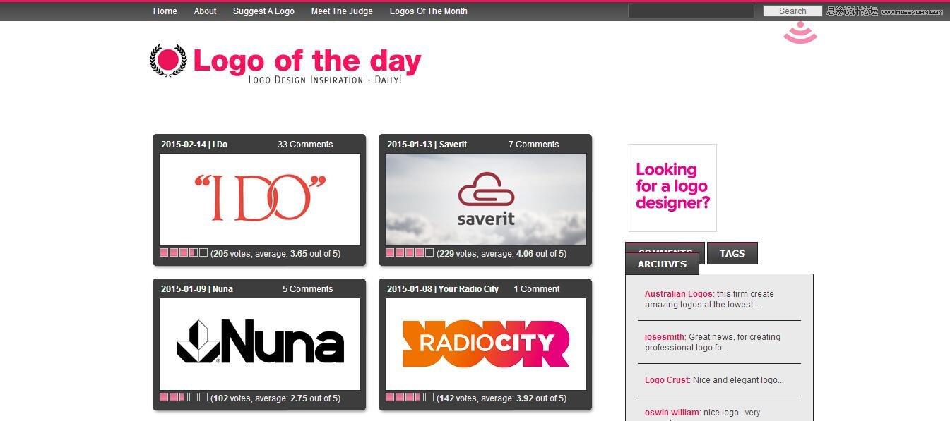10個提供Logo設計靈感的創意網站分享