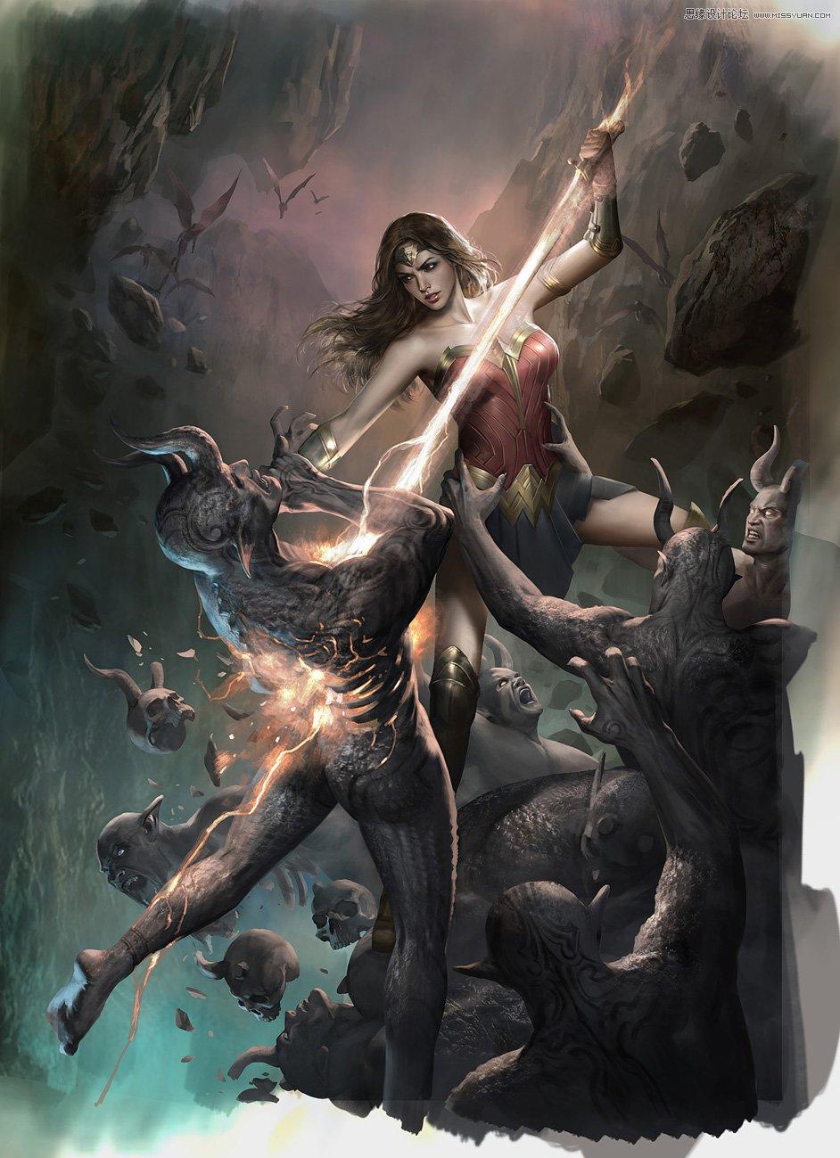 《神奇女俠》海報創作步驟及教程