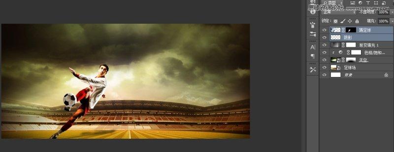 Photoshop合成激情四射的體育海報教程