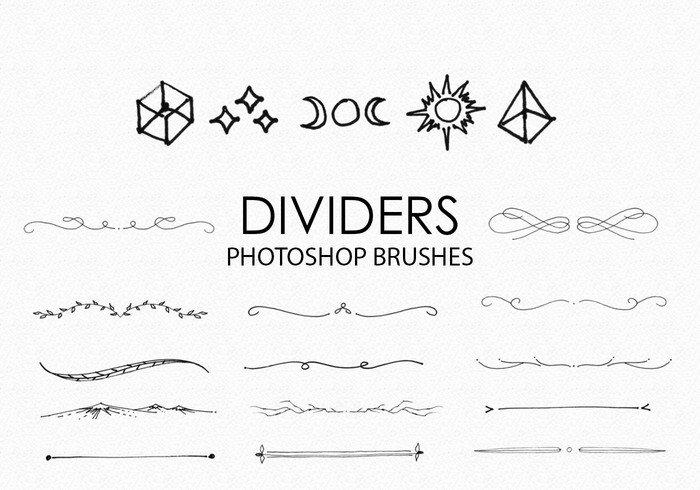 手绘分割线和分隔符ps笔刷