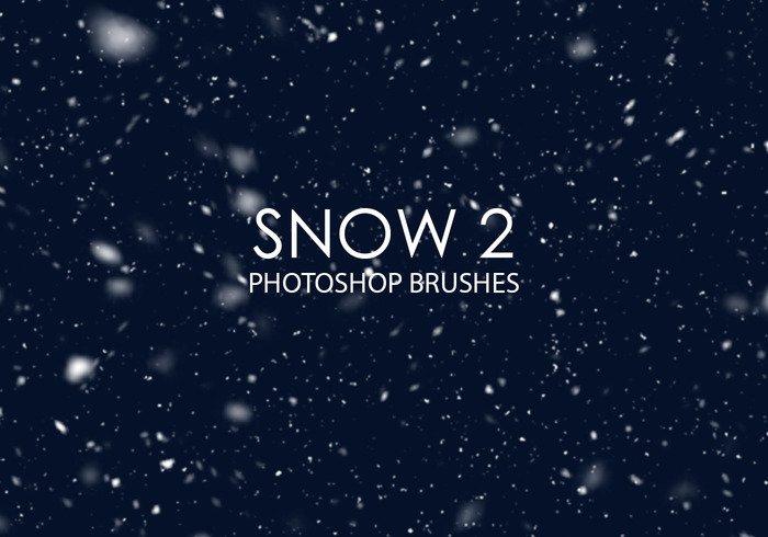 漫天雪花和飘雪效果ps笔刷 - photoshop笔刷免费下载 - 专业的素材