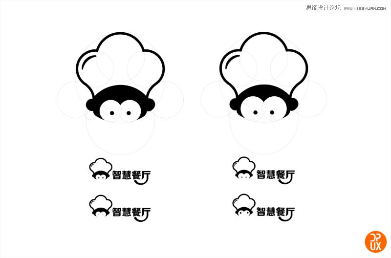 大众点评智慧餐厅logo设计全过程总结 - 思缘教程网