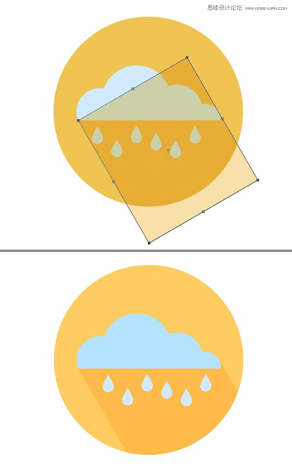 photoshop绘制扁平化风格的天气图标(4)