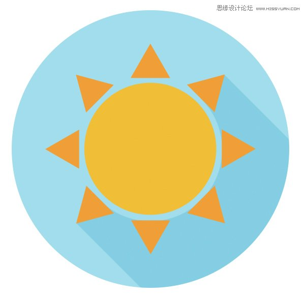 第一步   使用椭圆工具(u)画一个200 x 200 px蓝色正圆.