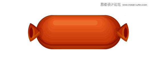 illustrator制作可爱的香肠艺术字教程(3)