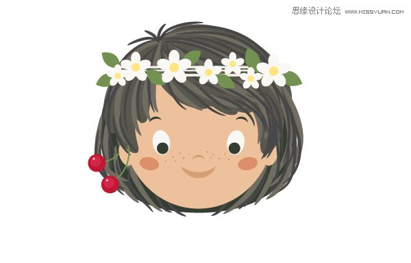 Illustrator绘制卡通风格的吃西瓜女孩教程,PS教程,思缘教程网