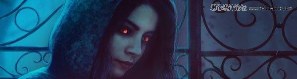 Photoshop合成暗黑風格的女巫恐怖場景