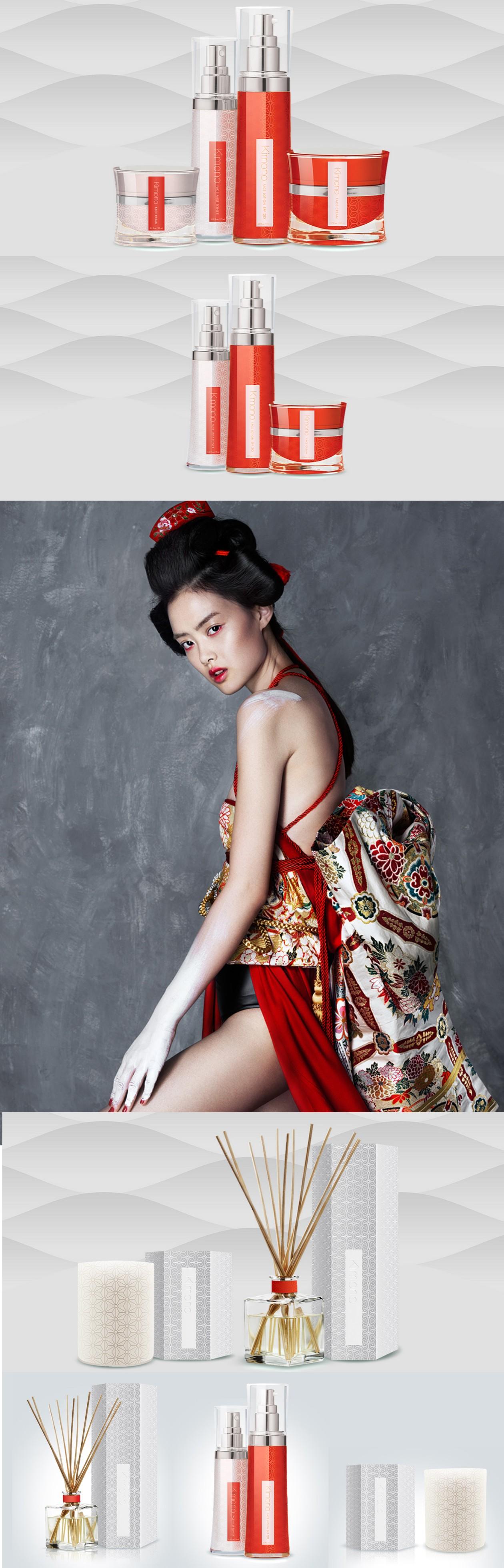 東風氣質風格的化妝品包裝設計欣賞