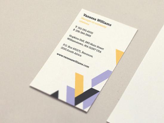 優秀的幾何元素的創意名片設計欣賞