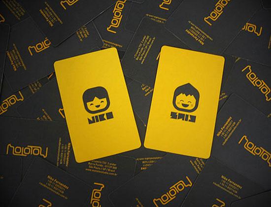 精選國外黃色風格的名片設計欣賞