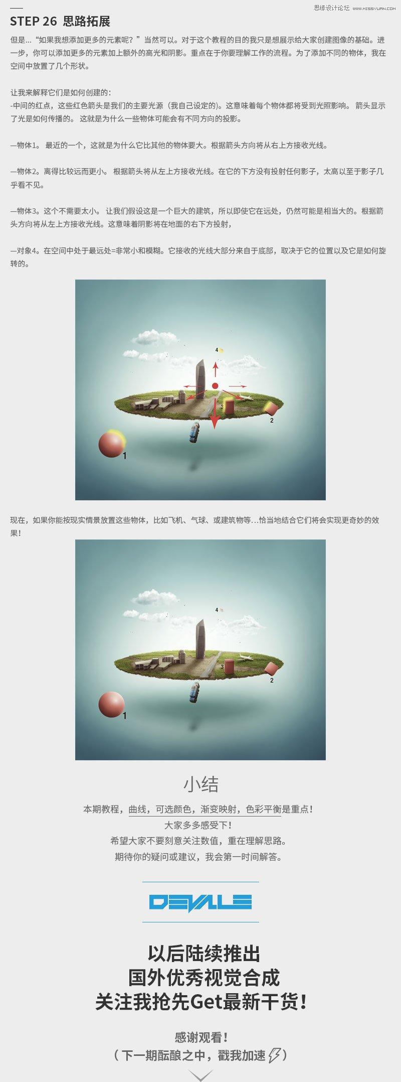 Photoshop合成創意的懸浮微觀世界場景圖
