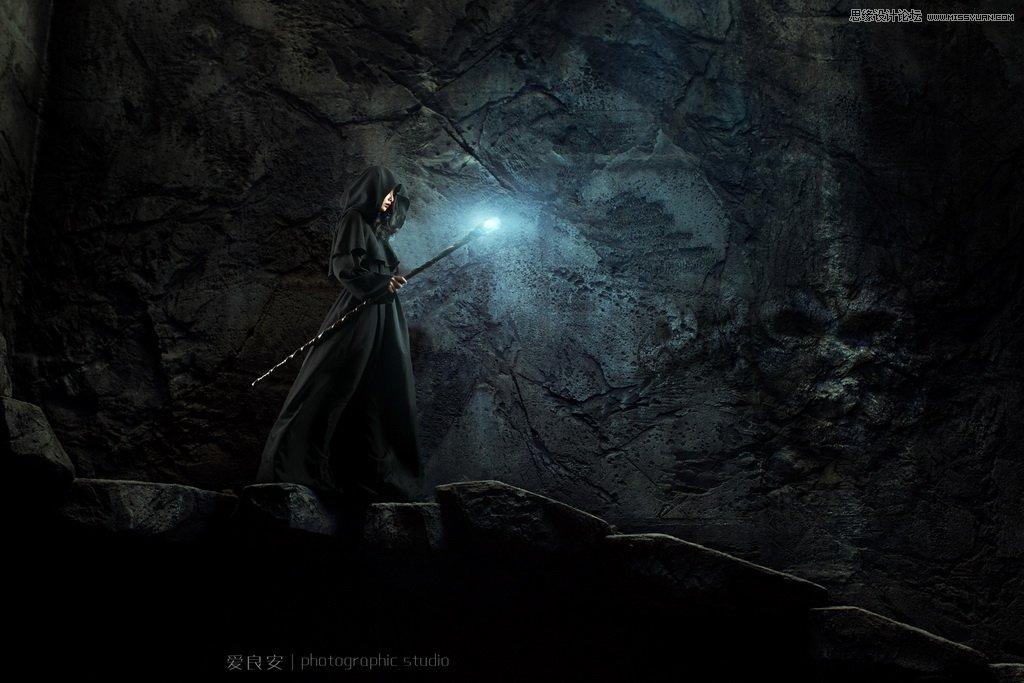 photoshop合成暗黑系风格的城堡和巫师场景