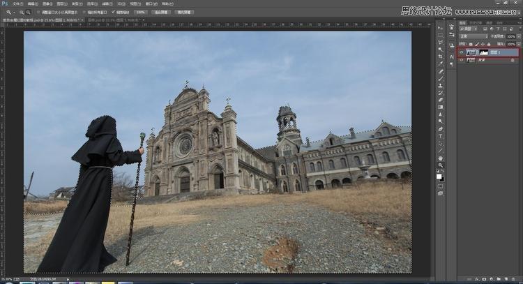 Photoshop合成暗黑系風格的恐怖城堡場景